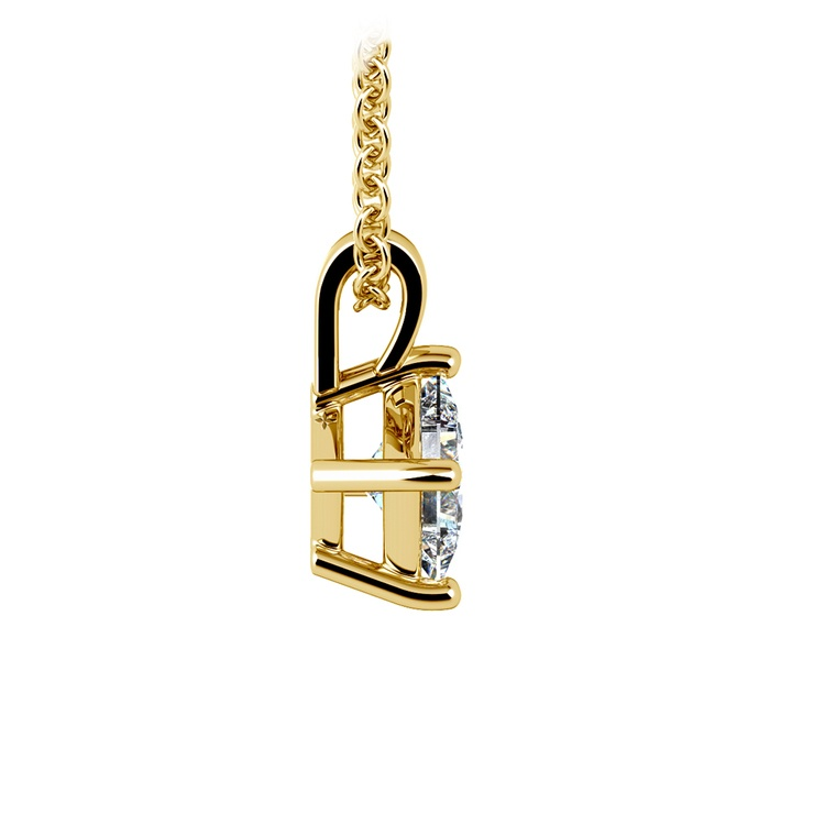 Princess Diamond Solitaire Pendant in Yellow Gold (1/2 ctw)  | 02