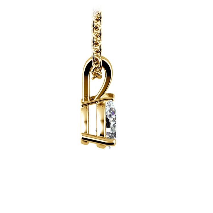 Gorgeous Pear Shaped Diamond Necklace In Yellow Gold (1/3 Ctw) | 02