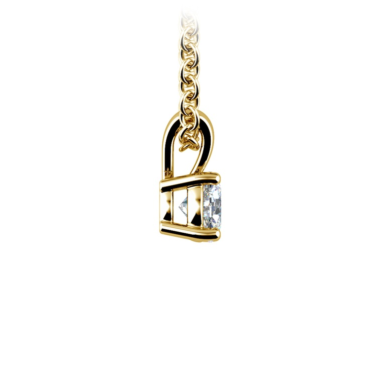 Round Diamond Solitaire Pendant in Yellow Gold (1/3 ctw) | 02