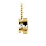 Bezel Diamond Solitaire Pendant in Yellow Gold (3/4 ctw) | Thumbnail 02