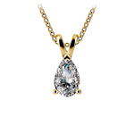 Pear Shaped Diamond Pendant Necklace In Yellow Gold (3/4 Ctw) | Thumbnail 01