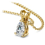 Pear Shaped Diamond Pendant Necklace In Yellow Gold (3/4 Ctw) | Thumbnail 03