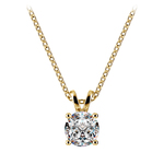 Round Diamond Solitaire Pendant in Yellow Gold (3/4 ctw) | Thumbnail 01