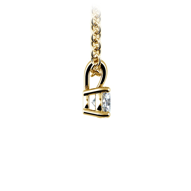 Round Diamond Solitaire Pendant in Yellow Gold (1/4 ctw) | 02