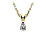 Pear Diamond Solitaire Pendant in Yellow Gold (1/5 ctw) | Thumbnail 01