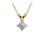 Princess Diamond Solitaire Pendant in Yellow Gold (1/5 ctw)  | Thumbnail 01