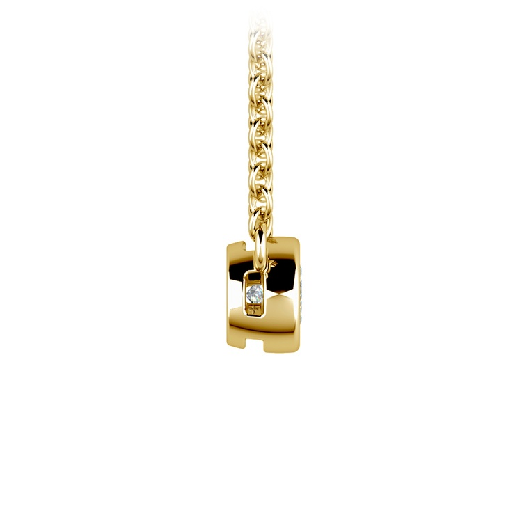Bezel Diamond Solitaire Pendant in Yellow Gold (1/5 ctw) | 02