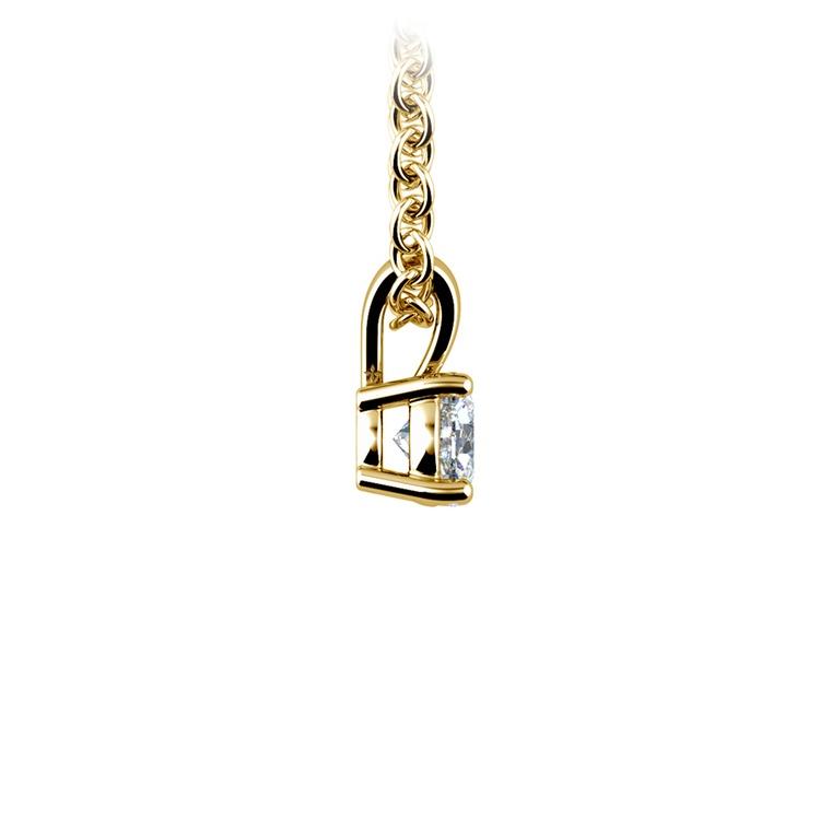Round Diamond Solitaire Pendant in Yellow Gold (1/5 ctw) | 02