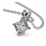 1/2 Carat Asscher Cut Diamond Necklace In Platinum | Thumbnail 03