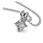 Asscher Diamond Solitaire Pendant in Platinum (1/3 ctw)  | Thumbnail 03