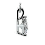Asscher Diamond Solitaire Pendant in Platinum (2 ctw)  | Thumbnail 02