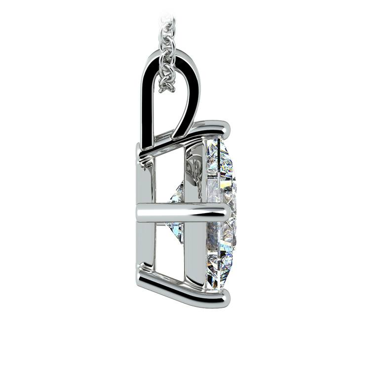Asscher Diamond Solitaire Pendant in Platinum (3 ctw)  | 02