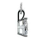 Asscher Diamond Solitaire Pendant in White Gold (1 1/2 ctw)  | Thumbnail 02