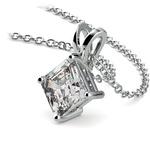 Asscher Diamond Solitaire Pendant in White Gold (1 1/2 ctw)  | Thumbnail 03