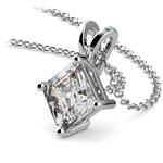 Asscher Diamond Solitaire Pendant in White Gold (2 ctw)  | Thumbnail 03