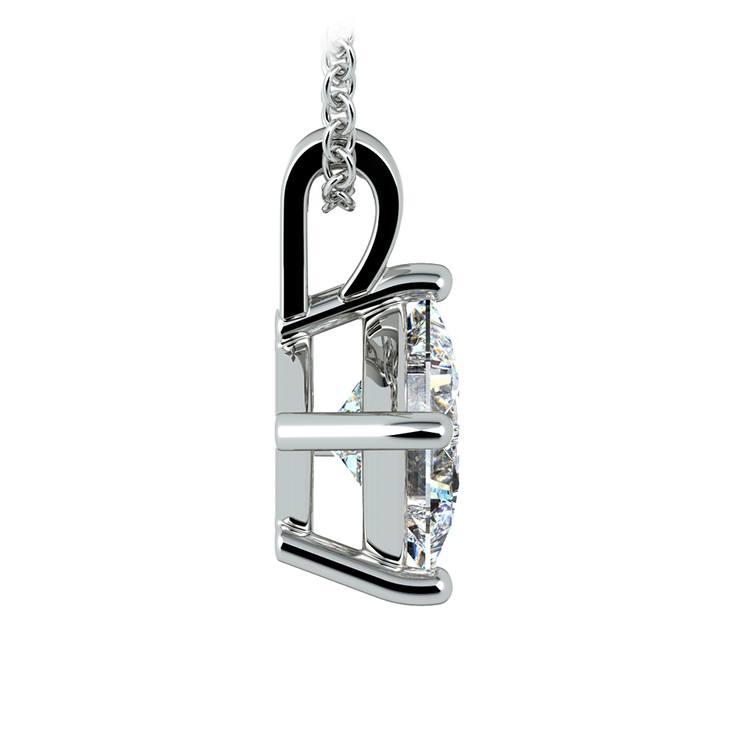 Asscher Diamond Solitaire Pendant in White Gold (2 ctw)  | 02