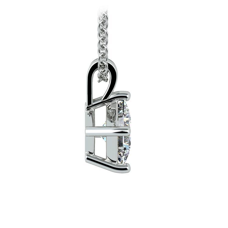 Asscher Diamond Solitaire Pendant in White Gold (3/4 ctw)  | 02