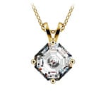Asscher Diamond Solitaire Pendant in Yellow Gold (2 ctw)  | Thumbnail 01