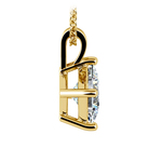Asscher Diamond Solitaire Pendant in Yellow Gold (2 ctw)  | Thumbnail 02
