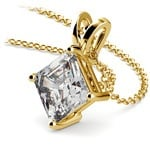 Asscher Diamond Solitaire Pendant in Yellow Gold (3 ctw)  | Thumbnail 03