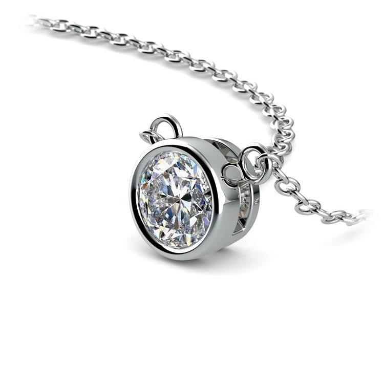 Bezel Diamond Solitaire Pendant in Platinum (1/2 ctw) | 03