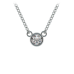 Bezel Diamond Solitaire Pendant in Platinum (1/4 ctw) | Thumbnail 01