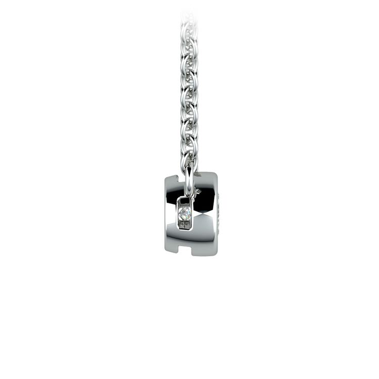 Bezel Diamond Solitaire Pendant in Platinum (1/4 ctw) | 02