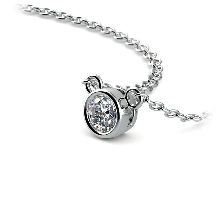 Bezel Diamond Solitaire Pendant in Platinum (1/4 ctw) | 03