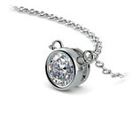 Bezel Diamond Solitaire Pendant in White Gold (1/2 ctw) | Thumbnail 03