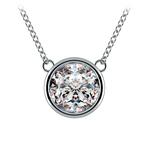 Bezel Diamond Solitaire Pendant in White Gold (3 ctw) | Thumbnail 01