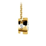 Bezel Diamond Solitaire Pendant in Yellow Gold (1 ctw) | Thumbnail 02