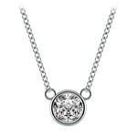 Bezel Solitaire Pendant Setting in Platinum | Thumbnail 02