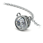 Bezel Solitaire Pendant Setting in White Gold | Thumbnail 01