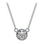 Bezel Solitaire Pendant Setting in White Gold | Thumbnail 02