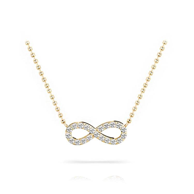 Charmed Diamond Infinity Necklace in Yellow Gold | 01
