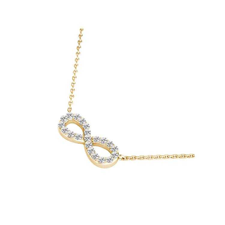 Charmed Diamond Infinity Necklace in Yellow Gold | 02