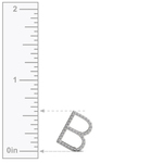 Diamond Initial Necklace - B | Thumbnail 03