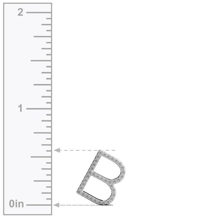 Diamond Initial Necklace - B | 03