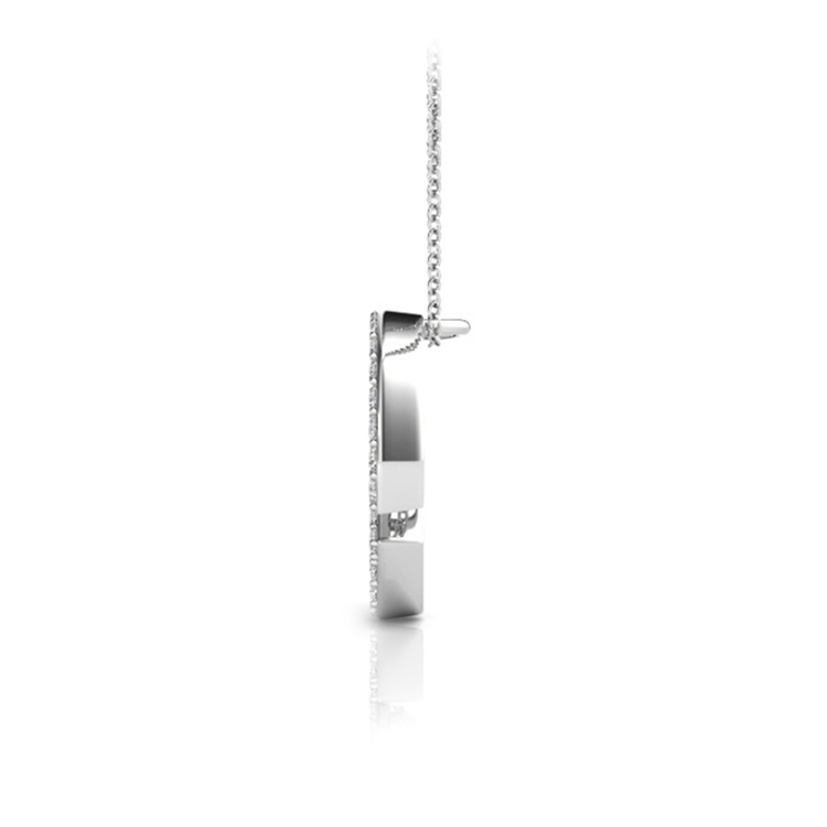 Diamond Initial Necklace - G   02