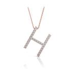 Diamond Initial Necklace - H | Thumbnail 05