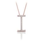 Diamond Initial Necklace - I   Thumbnail 05