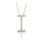 Diamond Initial Necklace - I   Thumbnail 04