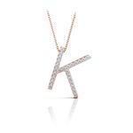 Diamond Initial Necklace - K | Thumbnail 05