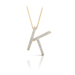 Diamond Initial Necklace - K | Thumbnail 04