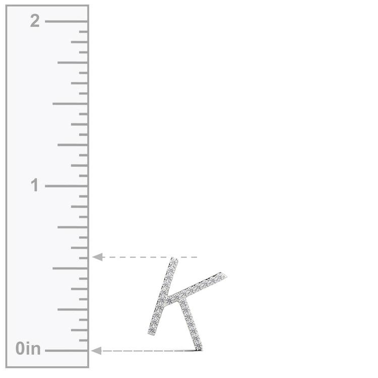 Diamond Initial Necklace - K | 03
