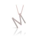 Diamond Initial Necklace - M | Thumbnail 05