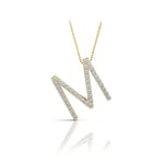 Diamond Initial Necklace - M | Thumbnail 04