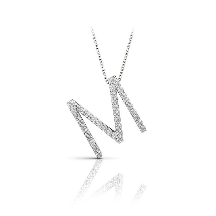 Diamond Initial Necklace - M | 01