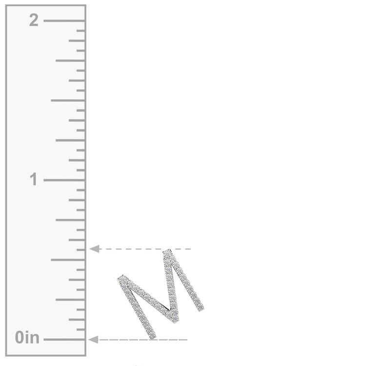 Diamond Initial Necklace - M | 03
