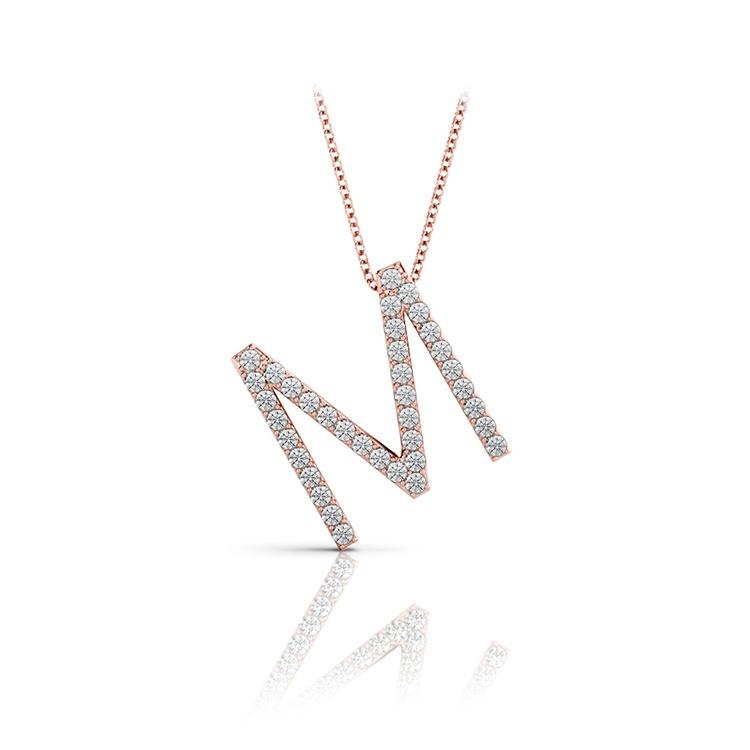 Diamond Initial Necklace - M | 05
